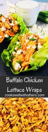 Buffalo Chicken Salat Wraps   – Dinner Ideas