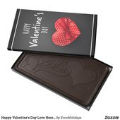Happy Valentine's Day Love Heart Gift | Holidays Dark Chocolate Bar | Zazzle.com