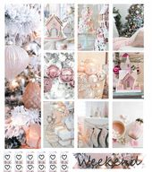 Pink Christmas Free Planner Printable