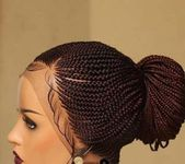 Custom made ,Full lace Braided wigs ,pointy tail ,braided wigs , Neatly