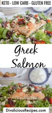 Greek Salad A quick and easy greek salmon recipe with flavours from the Mediterr… – Mediterranean Diet Recipes
