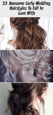 33 super curly wedding hairstyles to fall in love with – Lina's blog, #blog #wedding hairstyles #L …