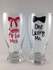 Engagement Gift, Bridal Shower Gift, Engagement Party Gift, Soon to be Mrs in Hot Pink, one lucky mr   – Gifts