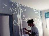 Individual wall painting in the children's room by Junior Florian