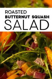 Gebratener Butternusskürbissalat – Dieser süße und herzhafte Salat ist perfekt für den Herbst …