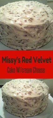 Missy's Red Velvet Cake mit Frischkäse-Zuckerguss