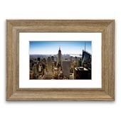 Framed photo print NYC The Big Apple East Urban Home Size: 50 cm H x 70 cm W, frame type: Silver