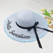 Embroidery Letter Sunshine Straw Beach/Sun Hats – Fashion Hats At Bridelily