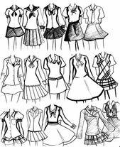 Zeichnen Sie Schuluniformen – #femme #Schuluniform…