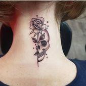 Schädel und Rose Tattoo | Tattoo Ideen und Inspiration – #Ideen #Inspiration #Rose …
