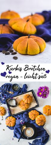 Vegane Kürbis Brötchen – leicht süß 😍