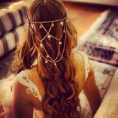 Römischer Kopfschmuck - ideal für lockeres Haar oder Geflecht - #weave #ideal #headdress #lockeres #romic -