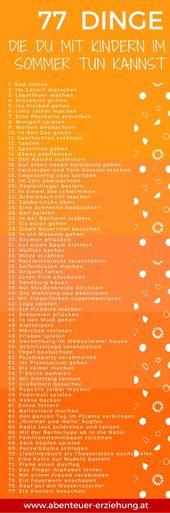 77 Dinge, die du mit deinem Kind im Sommer machen kannst – Terrorpüppi