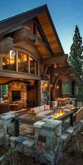 50 Incredible Log Cabin Homes Modern Design Ideas (8