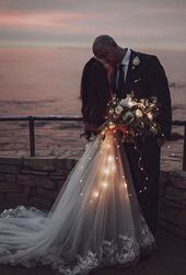 30 Must Have Wedding Pictures ❤ Wedding Photos Evening wedding photo in the N … – Everything is here