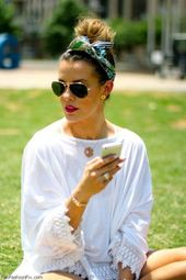 Tie Bandana: Here come cool summer hairstyles with the trend cloth!