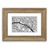 East Urban Home Framed Poster Paris City Map | Wayfair.de