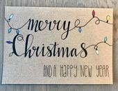 Merry Christmas, Fijne feestdagen, Handlettering, hand letteren