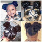 Schwarze Kleinkind-Frisuren