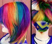 Undercut Frisuren für Damen  Geometrische farbige und Glitzer-Designs