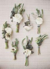 Hübsche Blumen-Corsagen für schöne Braut- und Brautjungfernideen (45+ Most Wonderful Corsagen)   – Corsage