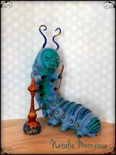 Caterpillar – Absolem- Alice in Wonderland-OOAK – Tim Burton – Lewis Carrol