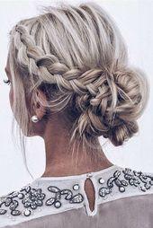 Geflochtene Frisuren für Hochzeit Frisuren # für #Woven #Hochzeit # Frisuren