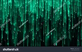 Data technology background. Big data visualization. Flow of data. Information code. Background in a matrix style. 4k rendering.