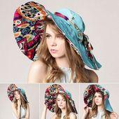 [AETRENDS] 2017 Fashion Design Flower Foldable Brimmed Sun Hat Summer Hats for Women UV Protection Z-2657  – Şapkalar