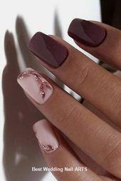 35 Einfache Ideen für Hochzeit Nägel Design #nailartideas #nailart – #Design