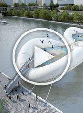 #Architects #bounce #bridge #Parisian #Seine #Trampoline