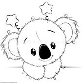 Cute Koala 5 Coloring Pages