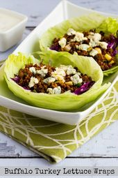 Buffalo Turkey Lettuce Wraps (Video)