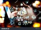 Fintech Investment Financial Technology Concept. P2P Payment concept image.Startup and crowd funding concept.Social network with P2P lending. Smart ph…
