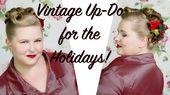 Vintage Updo für die Feiertage oder Silvester