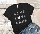 Camping kärlek t shirt Roliga vilda lägerkläder Trekking skjorta vandring berg äventyr ungdom väg resa Lycklig husbil glampande vild natur gåva