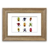 East Urban Home Framed Poster Robot group | Wayfair.de
