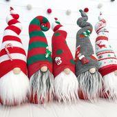 Christmas Gnome Sample – DIY Sock Gnome Sample – DIY Gnome Tutorial – Sock Gnome – PDF Stitching Sample Obtain – Printable Sample
