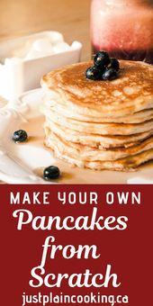 DIY Pancake Mix – Make Pancakes from Scratch and Save Please stop buying pancake…   – recipe's