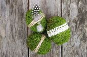 Make Easter decorations: DIY for moss easter eggs – Floral Garden Ideas