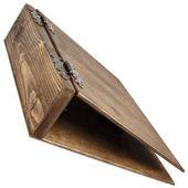 Aktenordner dunkles Holz A4 Ordner aus Holz Holzordner