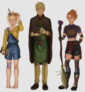 The Silver Trio Harry Potter Artwork Harry Potter Illustrations Harry Potter Drawings