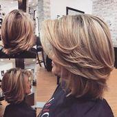 Super moderne schicht bob | Kurze Frisuren für Frauen über 50 | Ihre Schönheit