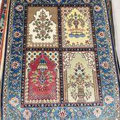 2x3ft Qum design silk handmade carpets&rugs