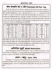Panchang S 4th Part Yog Hindi Jyotish Astrology Astrology Hindi Vedic Astrology