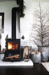Black Wood Stove