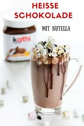 Das Rezept für heiße Schokolade mit Nutella ist sehr schnell zubereitet und sc … – Nutella Rezepte | nutella recipes