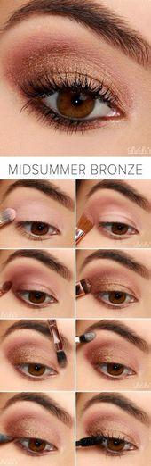 #Brown #Easy #Eyes #Makeup #Step #Tutorial 10 Easy step-by-step makeup tutorial