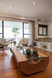 Holz für ein Paar, das gerne bekommt: rustikales Wohnzimmer … #reception