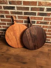 Wood cutting boards, handmade, new home housewarming gift, round wood serving tray, wood cheese board, charcuterie board, 5th anniversary